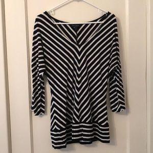 WHBM striped tunic top